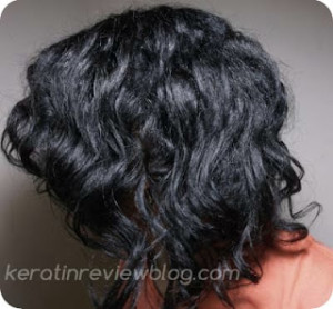 Bantu knot out on flat ironed hair