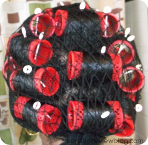 My rollerset on 100%  natural hair